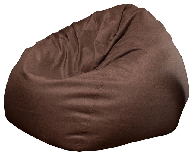 Awe Inspiring The Big Pear Bean Bag Chair Brown Gmtry Best Dining Table And Chair Ideas Images Gmtryco