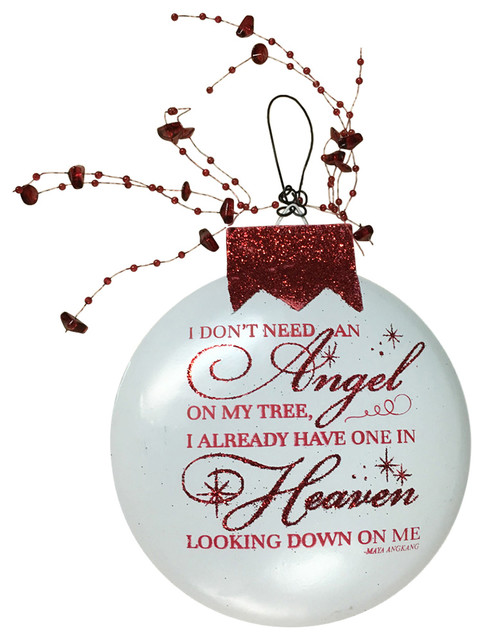 Christmas In Heaven Ornament.Angel Already In Heaven Looking Down On Me Red Angel Ornament