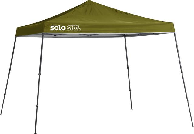 Solo Steel 90 11&x27;x11&x27; Slant Leg Canopy, Olive.