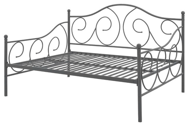 Metal Daybed Frame Contemporary Design Day Bed, Bronze