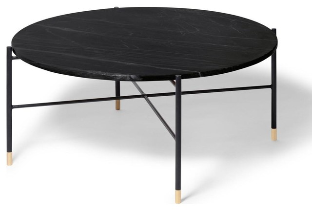 Ethan Round Modern Marble Coffee Table Midcentury Coffee Tables