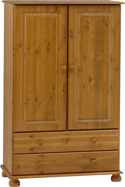 Richmond 2 door short wardrobe with 2 drawers Short wardrobe with drawers