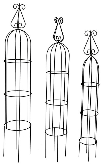 Metal Trellis Flower Support For Climbing Vines And Plants Packs Garden Obelisk.
