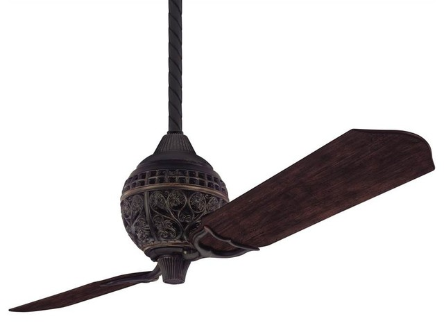 1886 Limited Edition 60 In. Ceiling Fan In Midas Black Finish.