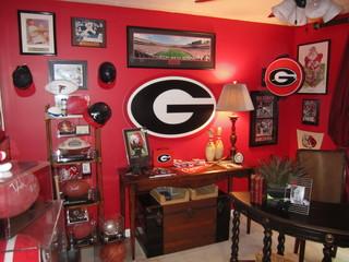 Georgia Bulldog Fan Office Aka Man Cave Traditional