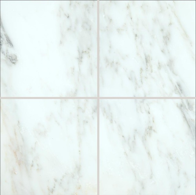 6x6 Msi Arabescato Marble Floor And Wall Tile Traditional Wall