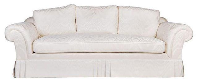 Beau Moire White Silk Sofa   $5,000 Est. Retail   $1,125 On Chairish.com