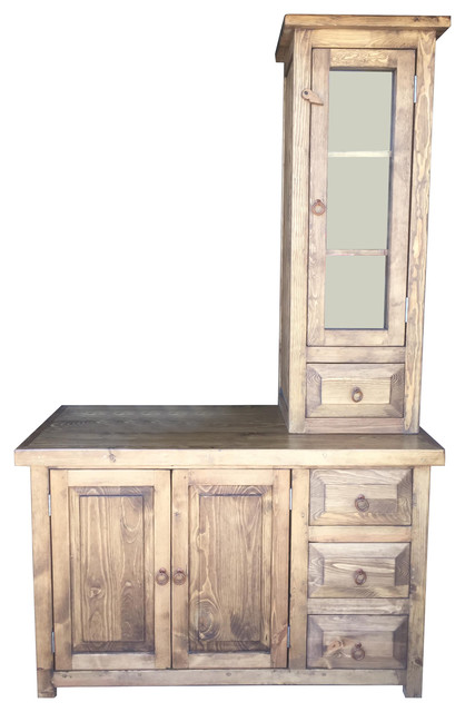San Gabriel 48 Quot Rustic Vanity With Tower Bathroom