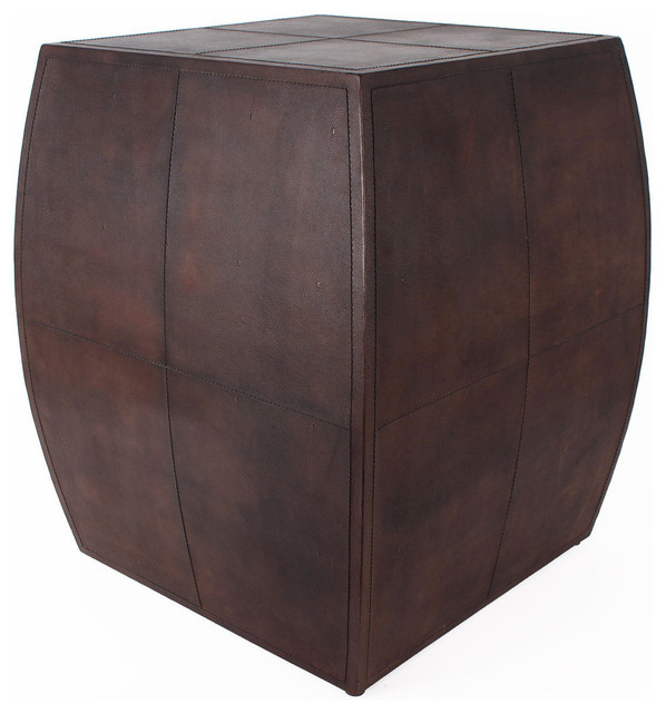 Superb Regency Leather End Table Transitional Side Tables And End Tables