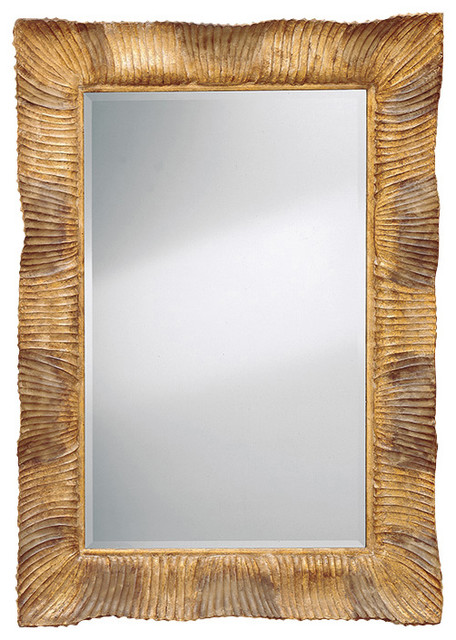 Wood Wall Mirror hand-carved wood framed mirror - contemporary - wall mirrors -