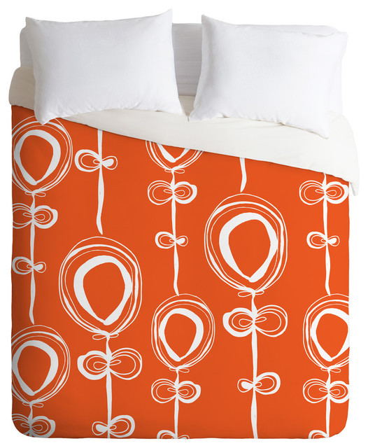 Rachael Taylor Contemporary Orange King Duvet Cover