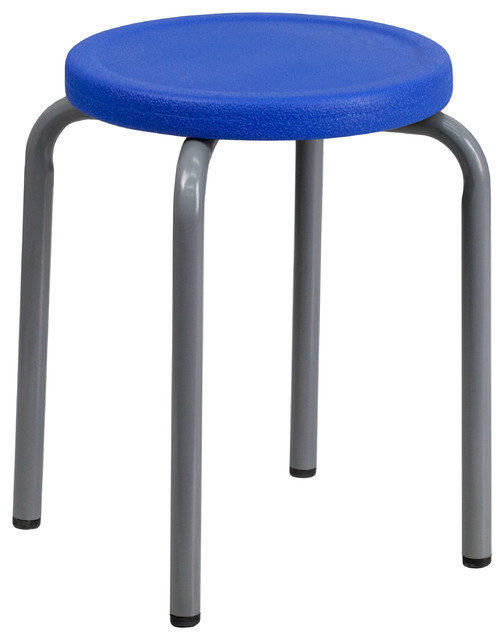 MFO Stackable Stool with Seat and Powder Coated Frame