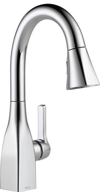 Delta Mateo Single Handle Pull-Down Bar/Prep Faucet, Chrome, 9983-DST