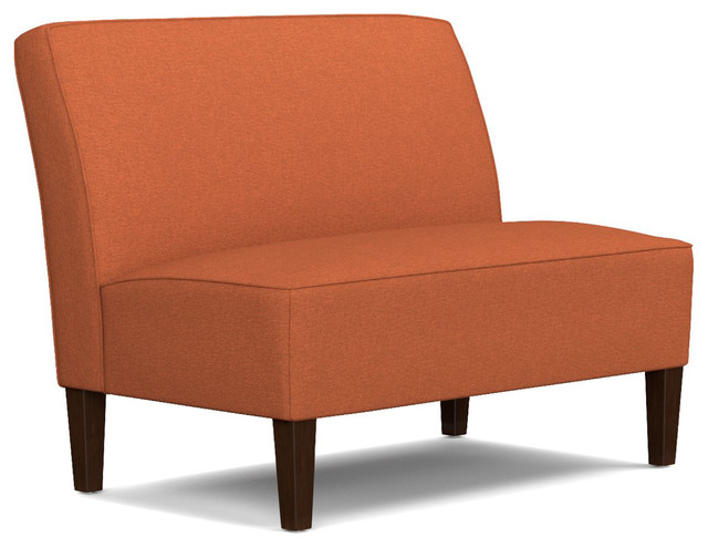 Bryce Settee, Orange Linen.
