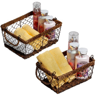 2 Piece Rectangular Basket Set