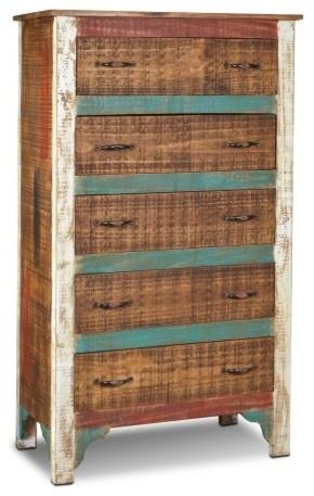 reclaimed solid wood highboy dresser cabinet