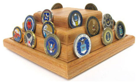 Coins Pyramid Coin Display Hand Made by Veterans - Pantry And Cabinet ...