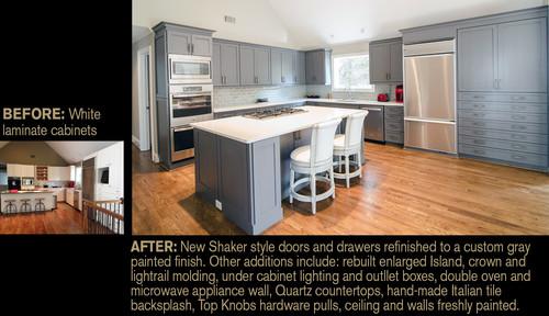 Ordinaire BEFORE: White Laminate Flat Panel Cabinets