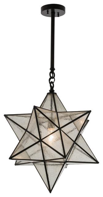 18 Moravian Star Pendant
