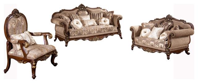 Winfrey Traditional 3 Piece Living Room Set