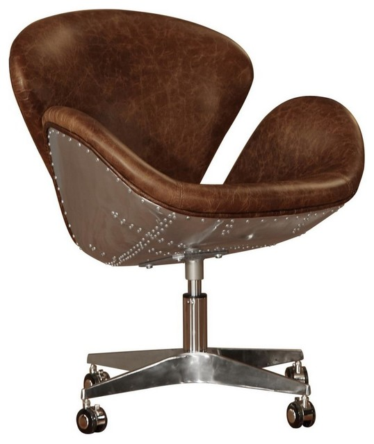bomber leather desk chair office chairs brown leather office chair