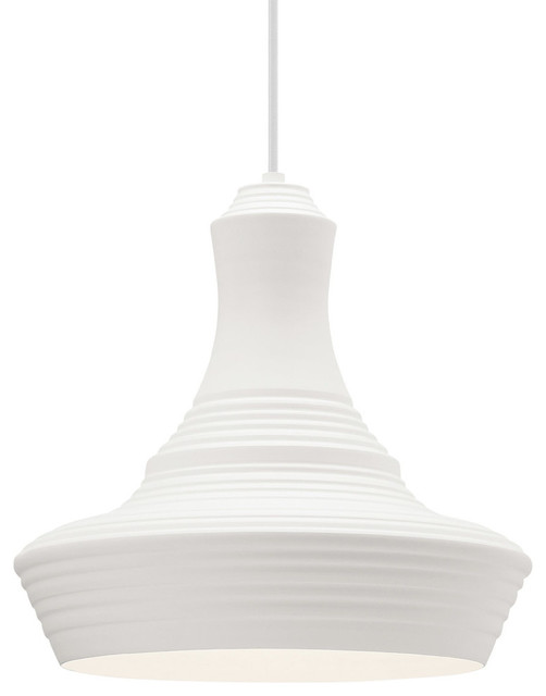 Menara 1-Light Pendant In White.