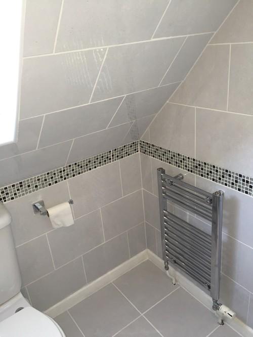 Bathroom Tiles Mosaic Border loft conversion en-suite bathroom.ceramic floor and wall tiles