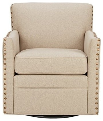 Madison Park Devrim Swivel Chair, Natural.