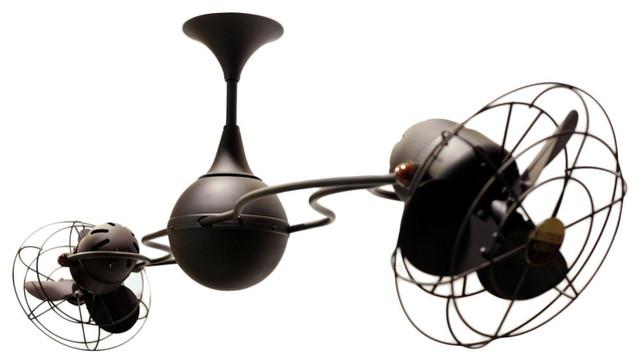 Italo Ventania Rotational Ceiling Fan, Bronze Finish.