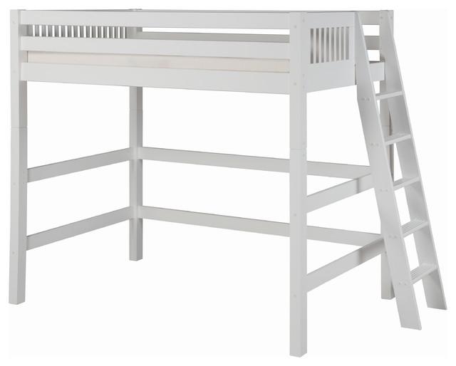 Camino Loft Bed, White, Twin.