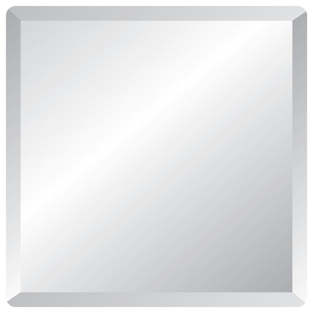 Square Frameless Wall Mirror 18 Contemporary Bathroom Mirrors