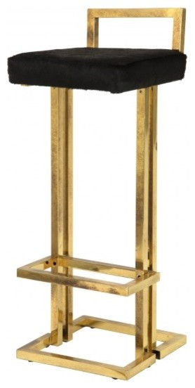 Vintage Brass Bar Stool