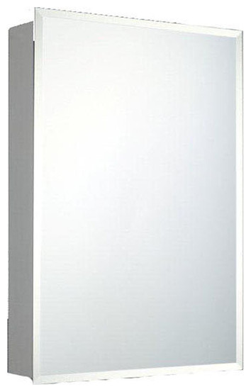 """Deluxe Series Medicine Cabinet, 14""""x20"""", Beveled Edge, Surface Mounted"""