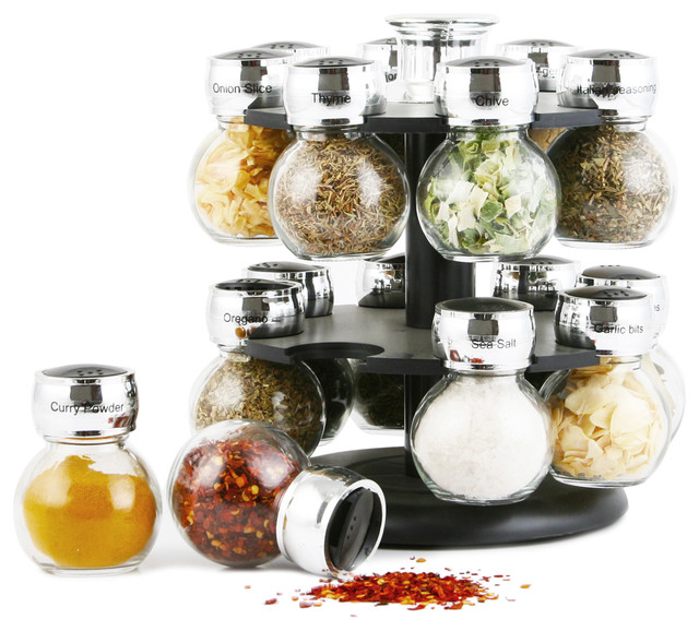 16-Jar Spice Rack Set.