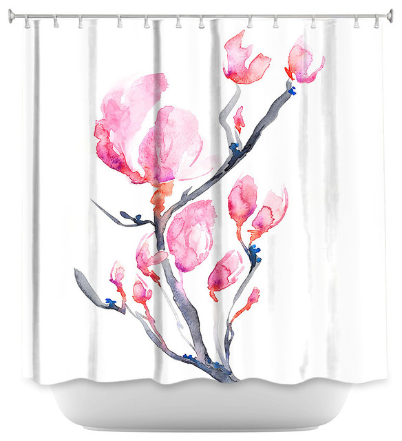 shower curtain unique from dianoche designs - japanese magnolia