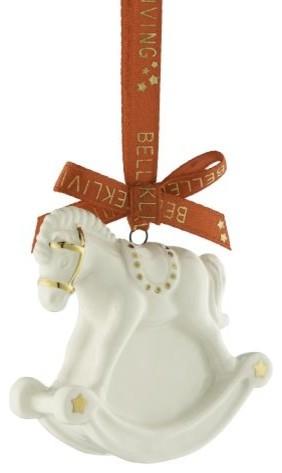 Belleek Rocking Horse Mini Ornament