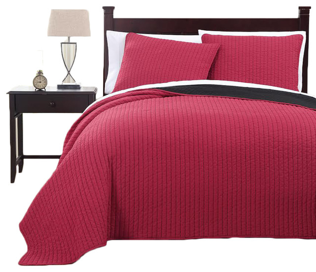 Project Runway Oversized Reversible Coverlet Set - Contemporary ... : oversized quilts and coverlets - Adamdwight.com