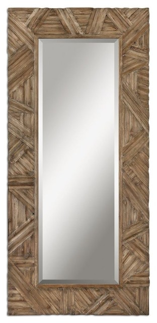 Classic Design Large Wall Mirror Wood Frame Walnut Details Home ...