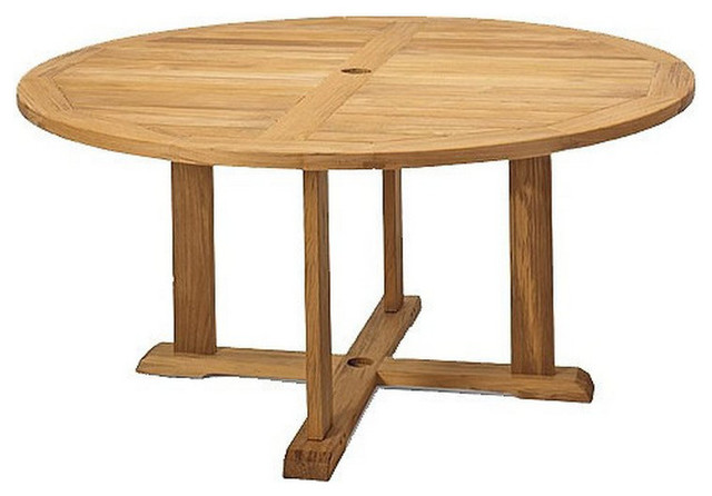 60 Round Dining Outdoor Teak Table Contemporary Outdoor Dining Tabl