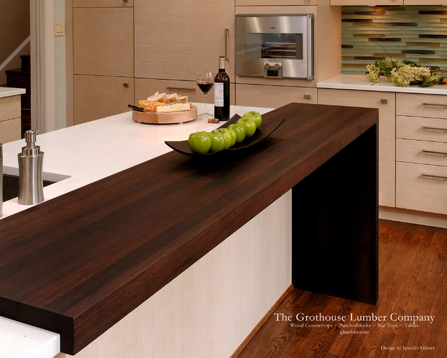 Contemporary Wenge Dark Wood Countertop by Grothouse ...