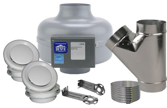 "Axc Bathroom Kit 6"", Y, 2 Adjustable Grilles, 235 Cfm."