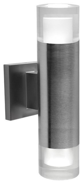 Bazz Luvia LED Outdoor Wall Fixture, Stainless Steel