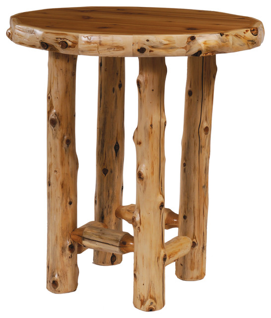 Fireside Lodge Cedar Pub Table Round With Standard