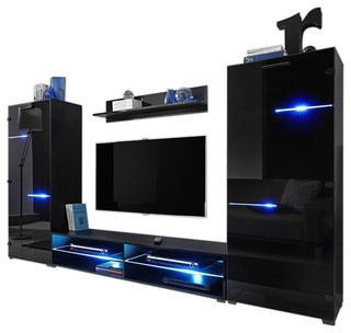 Modern Entertainment Center Wall Unit With Led Lights 65