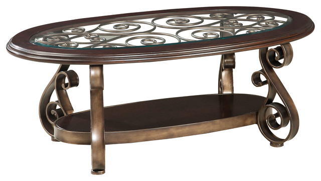 Attractive Standard Furniture Bombay Oval Glass Top Cocktail Table Mediterranean Coffee  Tables