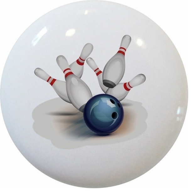 Bowling Sports Ceramic Knob