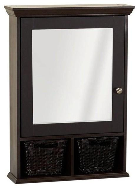 Zenith Mirrored Surface-Mount Medicine Cabinet.