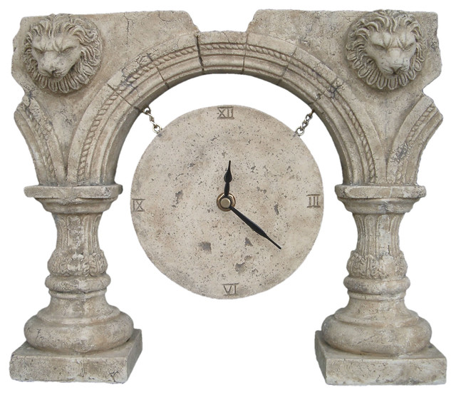 Roman Ruins Clock An Ancient Greek And Rome Old Fashioned