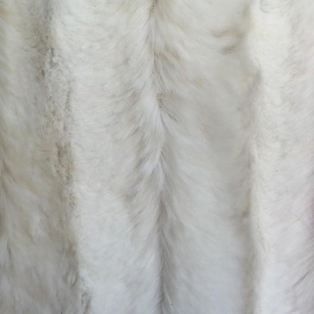 Faux Mink Velvet Fabric, Cream
