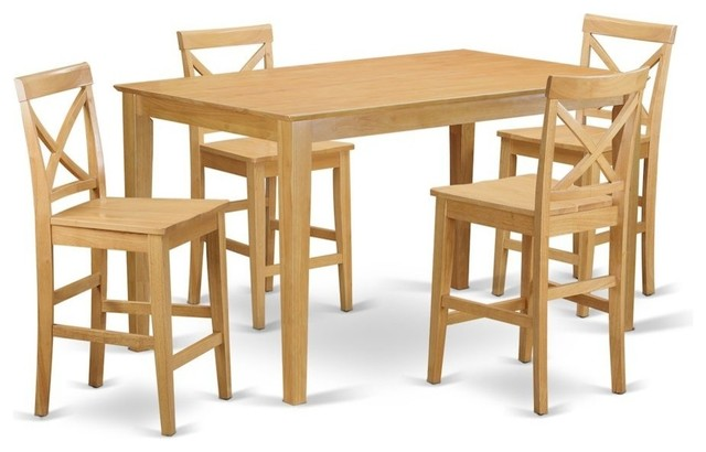 9 Piece Pub Table Set, Square Counter Height Table And 8 Dining Chairs